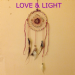 CRYSTAL DREAM CATCHER WITH CLEAR QUARTZ POINT  (L-D2)
